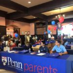 A table set for University of Pennsylvania's Parents